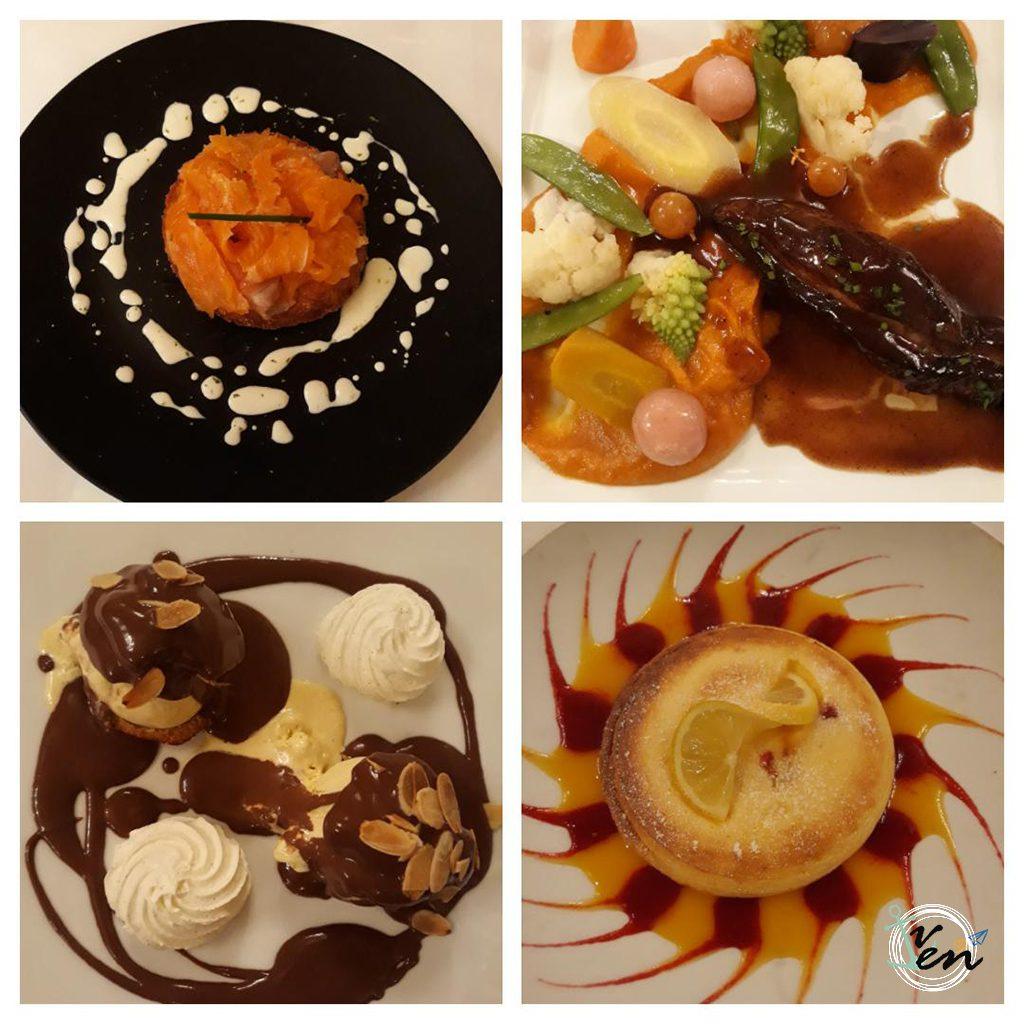 Muestra de algunos de los platos que disfrutamos
