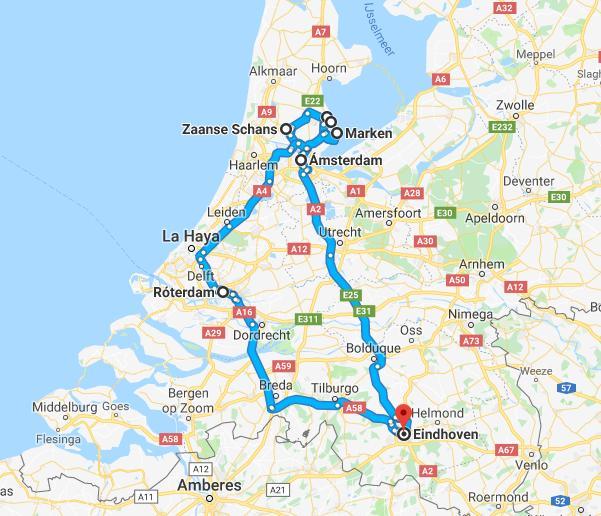 ruta 4 días Países Bajos